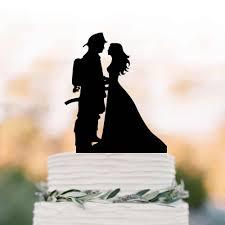 إطفائي العريس و العروس خيال الزفاف كعكة توبر مضحك كعكة الزفاف