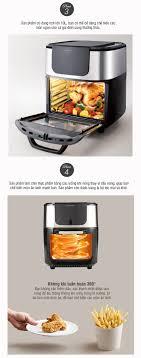 Lò Nướng Không Khí Lock&Lock Air Oven 1800W 10L Màu Đen