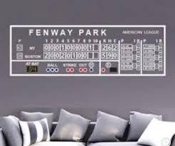 Boston Red Sox Fenway Green Monster Scoreboard Wall Decal Etsy