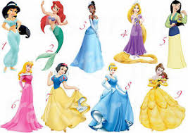 Disney Princess Wall Sticker Decor Decal Belle Ariel Aurora Jasmine Rapunzel Ebay