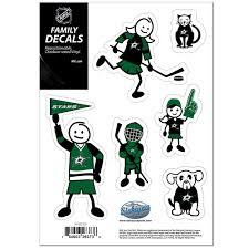 Dallas Stars Small Family Decal Set Family Decals Vancouver Canucks San Jose Sharks