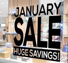 January Sale Huge Savings Window Sticker Tenstickers