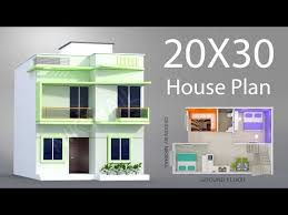 20x30 house plan with 3d elevation by