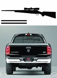 Rifle Rear Window Rack Decal Sticker Truck Deer Rack 37361522