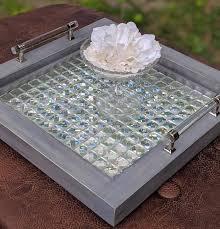 serving tray ottoman vanity mirror