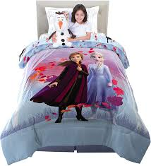 Amazon Com Franco Kids Bedding Super Soft Comforter With Sheets And Cuddle Pillow Bedroom Set 5 Piece Twin Size Disney Frozen 2 Home Kitchen