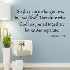 Vwaq So They Are No Longer Two But One Flesh Matthew 19 6 Vinyl Wall A