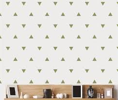 Amazon Com Triangle Pattern Wall Decal Olive 4 H X 4 W Home Kitchen