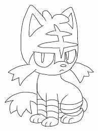Litten Coloring Pages At Getdrawings Free Download