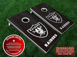 Amazon Com Raiders Cornhole Decals Six 6 Individually Sized Vinyl Stickers Your Color Choice Handmade