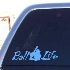 Ball Life Decal Vinyl Decal Projects Baseball Decals Baseball Car Decals