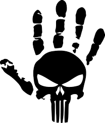 Jeep Wave Punisher Skull Decal Jeep Wrangler Unlimited Etsy