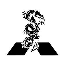 Mitsubishi Dragon Logo Car Vinyl Decal Sticker