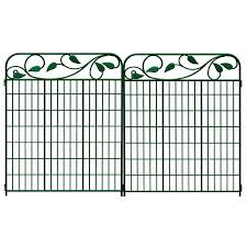 No Dig Actual 3 64 Ft X 2 95 Ft Wire Garden Fence Green Steel Decorative Metal Fence Panel In The Metal Fence Panels Department At Lowes Com