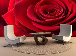 Red Rose Wall Mural Wall Decal Removable Wall Wallpaper Wall Etsy