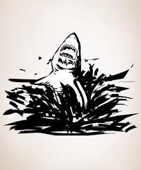 Shark Attack Jumping Out Of Ocean Vinyl Wall Decal Sticker Os Dc103 Stickerbrand