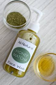 all natural honey matcha face wash