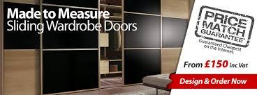 sliding mirror wardrobe doors made to