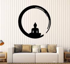 Personality Buddha Vinyl Wall Stickers Decal Buddhism Meditation Circle Enso Zen Religion Wall Tattoo Decor Living Room Train Wall Decals Train Wall Stickers From Joystickers 8 6 Dhgate Com