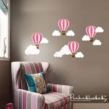 Pink Air Balloons Wall Sticker Peel And Stick Wall Sticker Pinknbluebaby Com