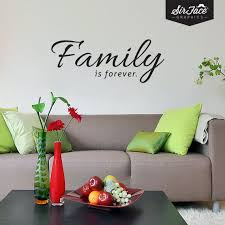 Family Is Forever Wall Decal Words Wall Sticker Family Etsy