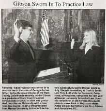 Gibson Sworn In To Practice Law | Gibson & Associates, P.C.