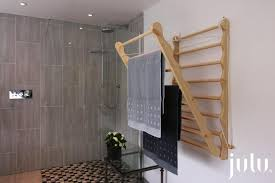 wall mounted clothes drying rack in