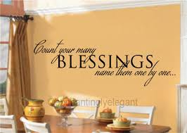 Count Your Many Blessings Vinyl Decal Wall Stickers Letters Words