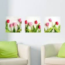 Tulip 3 Piece Panoramic Wall Decal Set Wall Decals Home Decor Decor