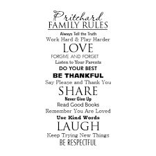 Custom Name Classic Family Rules Wall Quotes Decal Wallquotes Com