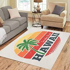 pinbeam area rug vintage hawaii lanikai