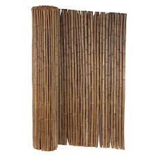 Cali Bamboo Actual 8 Ft X 6 Ft Bamboo Fencing Carbonized Bamboo Privacy Rolled Fencing Lowes Com Bamboo Fence Bamboo Privacy Rolled Fencing