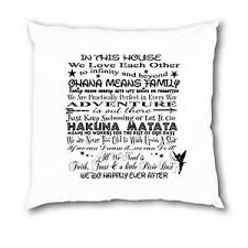 personalised disney quotes family cushion in this house mum sister