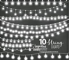Luces Para Invitaciones De Boda Luces De Fiesta Clipart Rustico