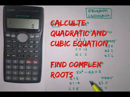 cubic equation using calculator