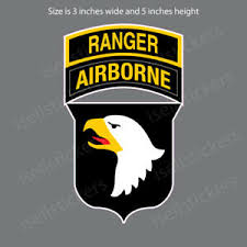 Ar 2155 101st Airborne Ranger Division Army Car Bumper Sticker Window Decal Ebay