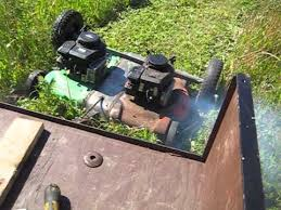 homemade tow mower first test you