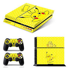 Ci Yu Online Vinyl Skin Ps4 Pokemon 3 Pikachu Yellow Whole Body Vinyl Skin Sticker Decal Cover For Ps4 Playstation 4 Syste Walmart Com Walmart Com