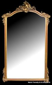 large antique french mirror circa 1890