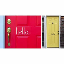 Hello Vinyl Door Decal Jane