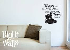 Safe Combat Boots Military Wall Decals Vinyl Art Stickers