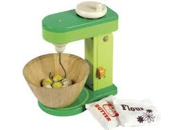 wooden toy cake mixer jouet dinette