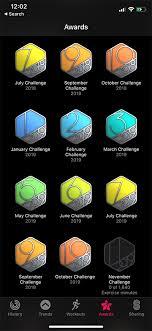 apple watch activity app monthly