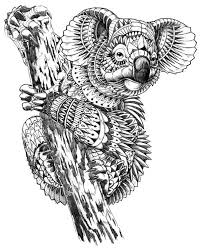 Ornate Koala By Bioworkz Via Behance Abstract Doodle Zentangle