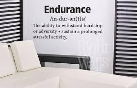 Edurance Definition Fitness Wall Decals Vinyl Art Stickers