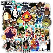 50 Pcs Cute Hayao Miyazaki Spirited Away Totoro No Face Man Stickers Decal For Phone Car Laptop Suitcase Waterproof Stickers Wish