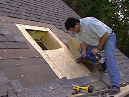 cut a roof opening for a skylight