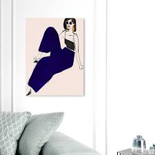 Shop Oliver Gal Kiki Is My Name Fashion And Glam Wall Art Canvas Print Accessories Blue White Overstock 31291083