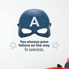 Design With Vinyl Captain America Success Vinyl Wall Decal Wayfair