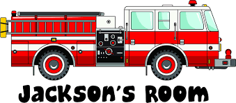 Amazon Com Popular Boys Fire Truck Firemen Decor Wall Decals Personalized Names Custom Name Create Quote Quotes Wall Decals Decal Stickers Sticker Vinyl Art Decor Kids Decoration For Bedroom Size 12x20 Inch Arts